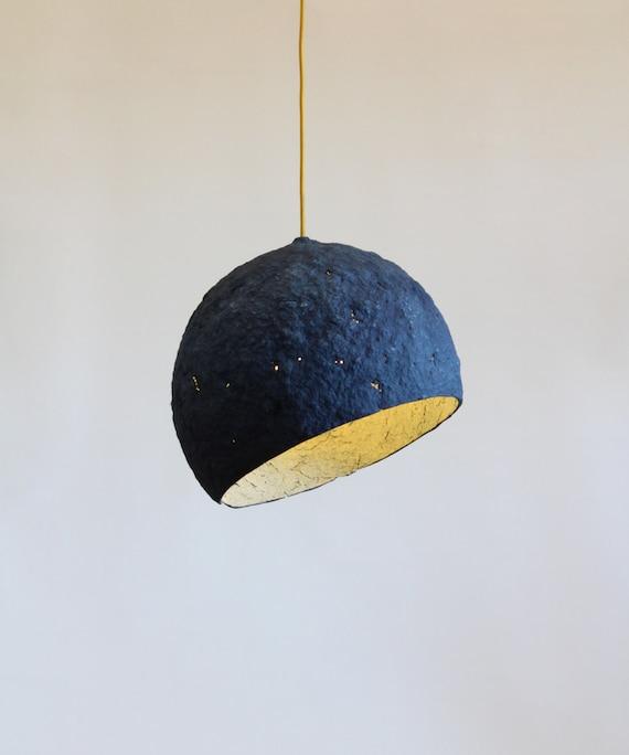 Pappmaché-Lampe Pluto Lampe Pappmaché Hängelampe