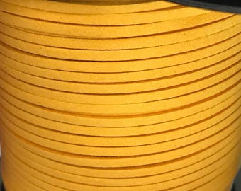 Mustard Yellow  Faux Suede Cord - 5m