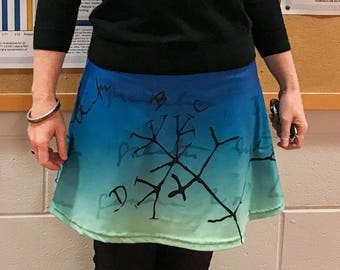 Darwin tree of life drawing skater skirt - science fashion for evolutionary biologists