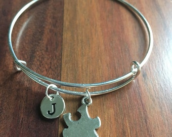 Jigsaw Puzzle initial Bracelet, Jigsaw Puzzle Jewelry, Silver Puzzle Piece, Puzzle Piece Jewelry, Jigsaw Bracelet