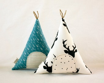 Tooth Fairy, Gift for Kids, Teepee, Stuffed Toy, Pillow, Arrows, Deer Antler, Kids Room Decor, Decorative Pillow, Children, Keepsake, Tipi