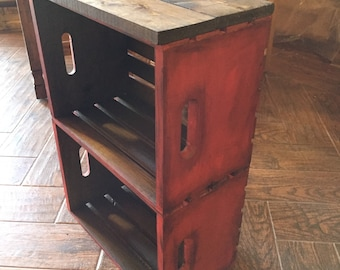 Rustic Crate End Table