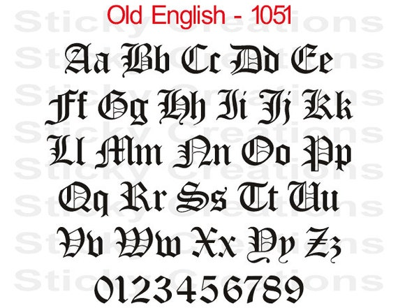 Custom text old english font customized personalized letters thecheapjerseys Choice Image