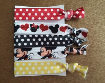 No Crease Elastic Mickey Mouse Hair Ties FE Gift Fish Extender Gift Disney Cruise Party Favor Disneyland Disney World Disney Cruise Hair Tie