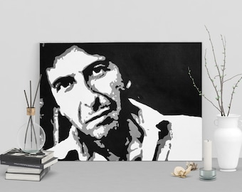Custom Hand Painted Graphic Portraits on Canvas