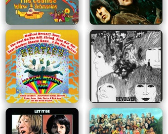 The Beatles Iconic Record Sleeve covers - six pack coaster set