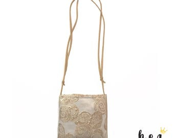 Luxe. Rose gold floral toddler purse. Valentine's Collection.