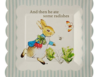 Peter Rabbit Small Paper Plates by Meri Meri | Beatrix Potter Party | Peter Rabbit Birthday | Peter Rabbit Baby Shower