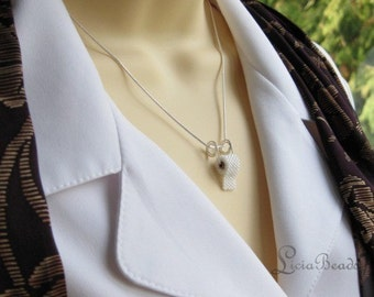 Toilet Paper necklace with silver or gold necklace
