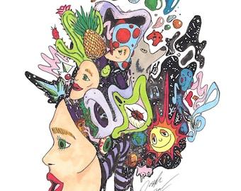 Dreamageddon - drawing - art print