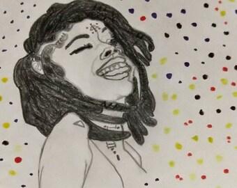 She Is Art Portrait Fine Art Print