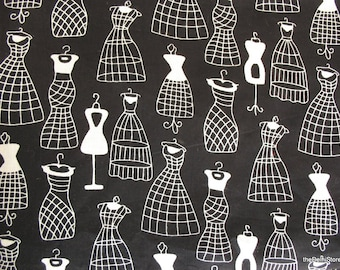 Vintage Dress Form Print Cotton Fabric Sold by Yard