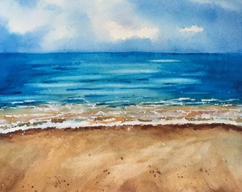 Calm Waters Watercolor Painting