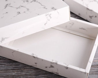 Packaging: Marble Print Gloss Paper Gift Box, Paper Bag