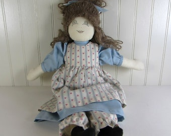 Vintage Stuffed Girl Doll - Soft Sculpture