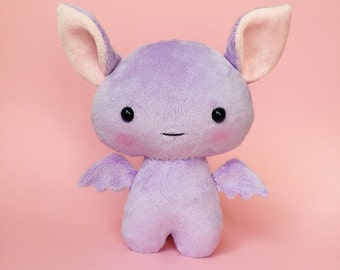 Bat plush toy - Cute stuffed bat - Purple bat  - Bat softie - Kawaii bat - Bat plushie