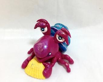 Polymer Clay OCEAN Hermit Crab Figurine
