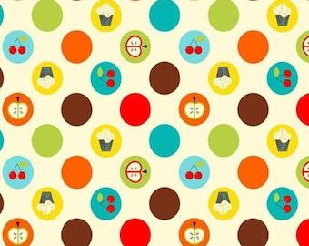 Cotton Fat Quarter 46cm x 55cm fabric coupon American patchwork - DAVID TEXTILES - fruit