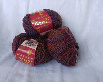 Jaeger Firenze multicoloured purple wool yarn