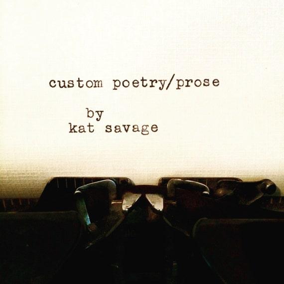 Custom Poetry!