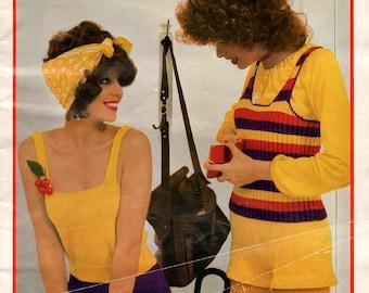 Patons 309 Womens Knitting Patterns Booklet Vintage 70s Boho Hot Pants Singlets Dress ORIGINAL not PDF copy