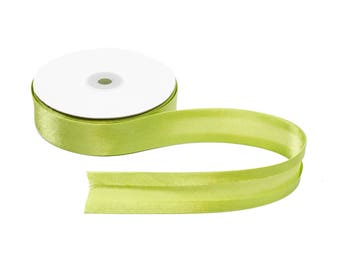 5 Yards Light Green 25mm Satin Bias Tape Ribbon - Available in 18 Colors