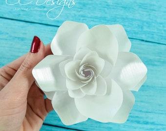 Paper Gardenias, Paper Flower Gardenias, Flower Templates, Paper Flower SVG, DIY Small Paper Flowers, Printable PDF Templates