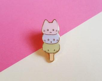 Mochi Kitties enamel pin badge