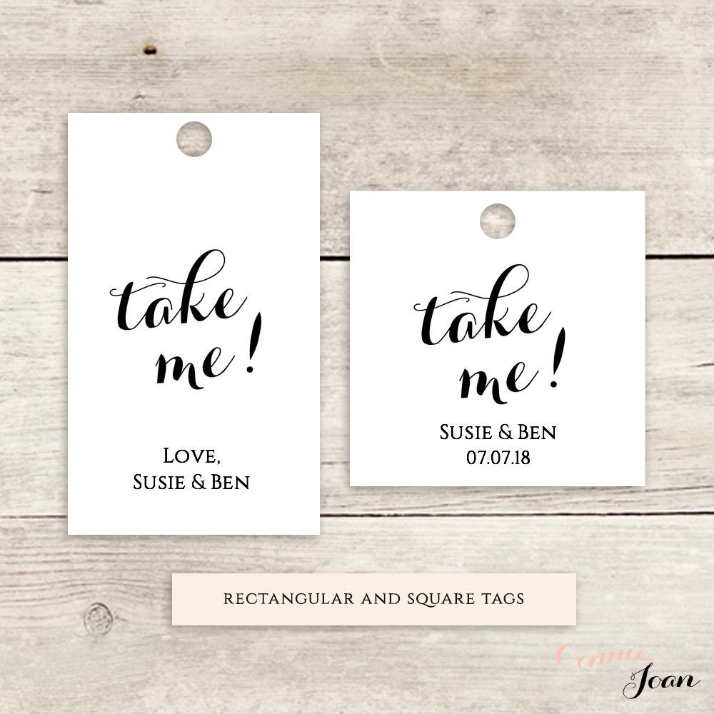 Free Wedding Label Templates for Favors and More - oukas.info