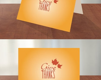 Give Thanks - Thanksgiving Cards