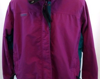 Vintage Columbia Bugaboo Jacket, Ski Coat, Women's Sz Large, Radial Sleeves, 80s 90s, Violet
