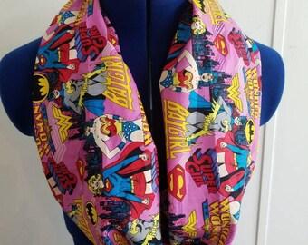 Wonder - woman - batgirl - supergirl - dc - comics - justice - league  -  superhero - loop - scarf