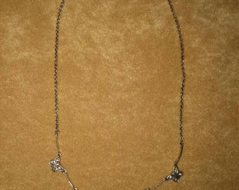 Sterling Butterfly Necklace Vintage