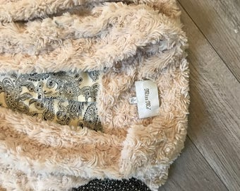 Miss Me faux fur jacket with Beaded Details