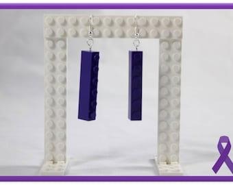 Lego Earrings - 6sie (Purple)