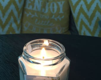 """No. 7 """"Lucky 4 oz. Hexagon Candle: Handpoured, Handmade Soy Candle With Custom Photograph By Brian McCullah (Lavender Vanilla Scent)"""