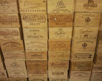 Traditional FRENCH WOODEN WINE  Box  / Crate / Storage unit (6 bottle size)