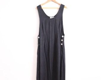 Minimal Low Side 90s Maxi Dress
