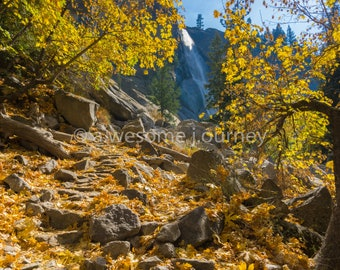 Golden Staircase - Yosemite National Park - Framed Photography
