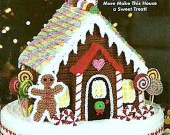 Vintage Crochet Pattern Christmas Gingerbread House Christmas Decoration Holiday Ornament DIGITAL DOWNLOAD PDF
