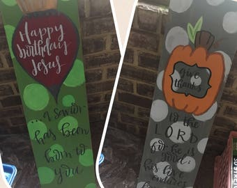 Double Sided Holiday Sign