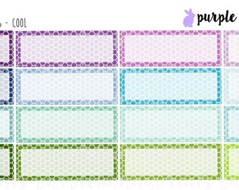 Honeycomb Quarter Boxes // Planner Stickers!