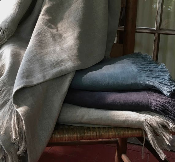 linen blanket *free shipping