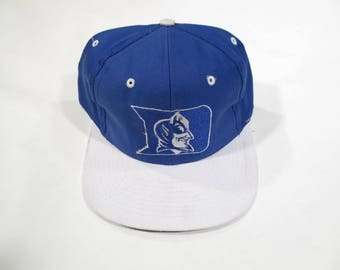 Deadstock 1990s Duke Blue Devils Snapback Baseball Hat Vintage New with Tags NCAA Basketball March Madness