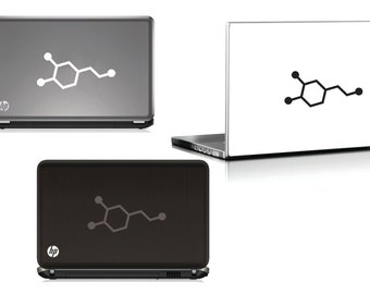 Dopamine Vinyl Sticker -the molecular structure of dopamine cut into a vinyl sticker that can be used on cars, walls or computer devices