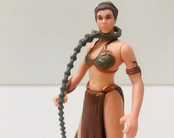 Princess Leia Jabba the Hutt's Prisoner, Slave Leia Outfit Return of the Jedi, Star Wars Action Figure 1997 Power of the Force, May the 4th