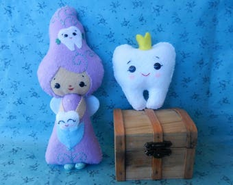 Felt Tooth Fairy Softie  Plushie Doll by Noialand