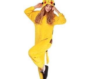 Pokemon Pikachu sleepwear Pajamas Cosplay Costume Robe teen-adult size S M L XL