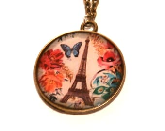 EIFFEL TOWER NECKLACE - France Necklace - Eiffel Tower Jewelry - Paris vintage Necklace - Pendant Necklace - Paris Jewelry - paris lover