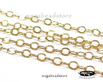 10 feet 14K Gold Filled Chain Delicate Loose Chain 2mm x 1.5mm CH18